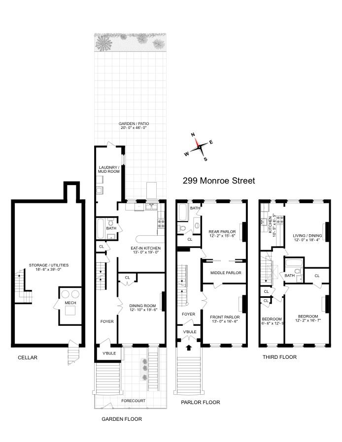 299 Monroe Street, Bedford Stuyvesant, New York, $1,450,000, Web #: 18091974