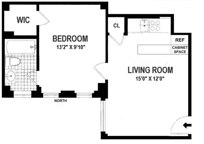 325 West 45th Street 209, Midtown West, NYC, $520,000, Web #: 18101692
