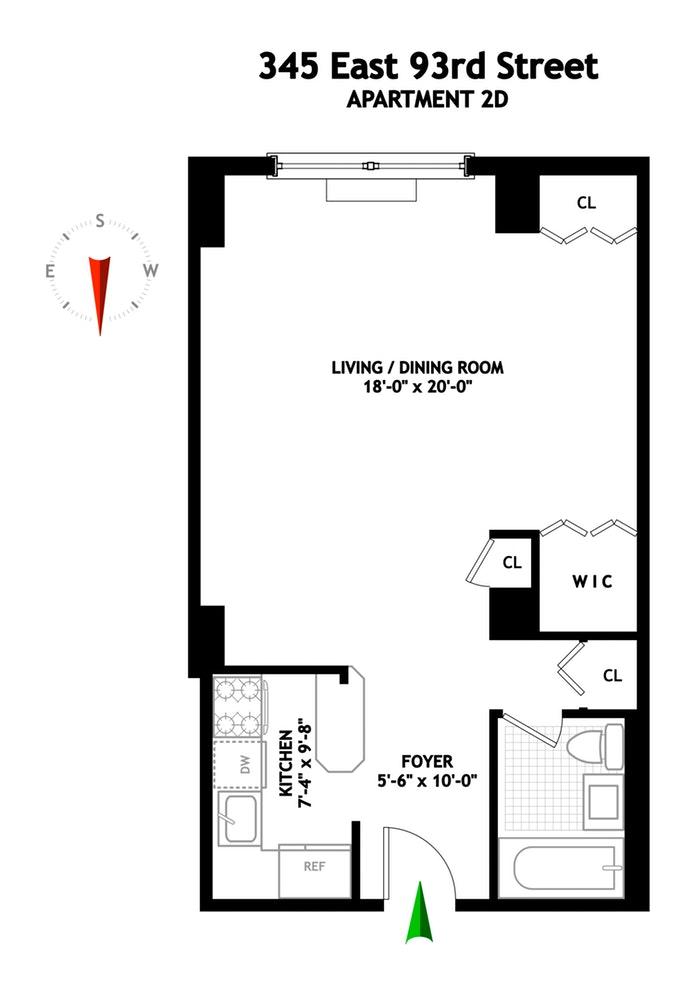 345 East 93rd Street 2D, Upper East Side, NYC, $465,000, Web #: 18208831