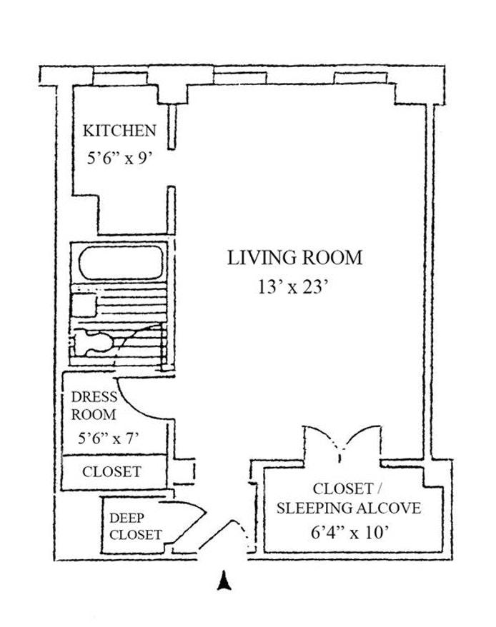 333 West 56th Street 2H, Midtown West, NYC, $675,000, Web #: 18221746