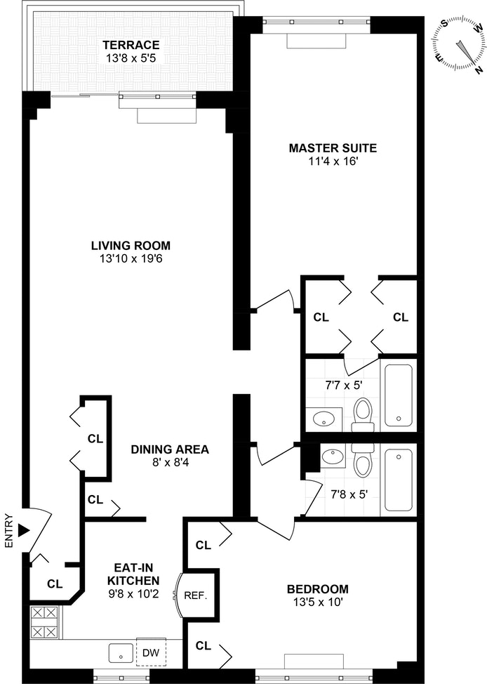 211 West 71st Street 12A, Upper West Side, NYC, $1,715,000, Web #: 18234149