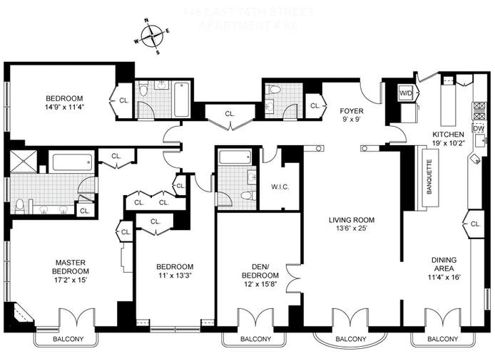 145 East 76th Street 9A, Upper East Side, NYC, $5,650,000, Web #: 18246687