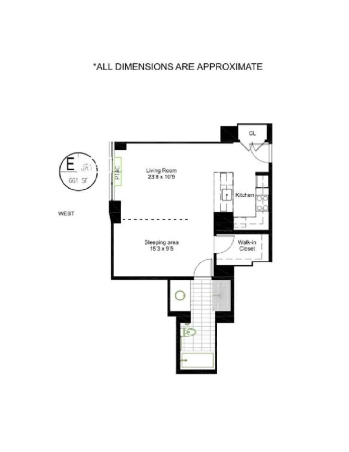 322 West 57th Street 42E, Midtown West, NYC, $1,149,000, Web #: 18247998