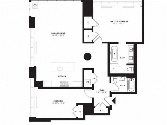360 Furman Street 528, Brooklyn Heights, New York, $7,450, Web #: 18256107