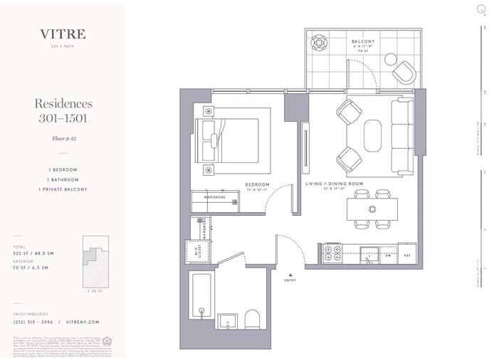 302 East 96th Street 501, Upper East Side, NYC, $905,000, Web #: 18260370