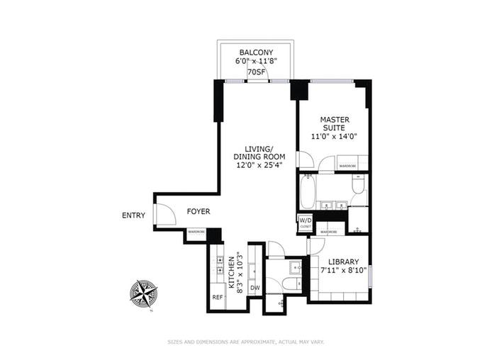 302 East 96th Street 702, Upper East Side, NYC, $1,555,000, Web #: 18261185