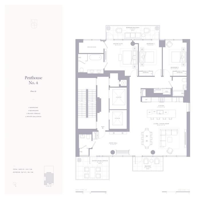 302 East 96th Street Ph4, Upper East Side, NYC, $3,795,000, Web #: 18261232