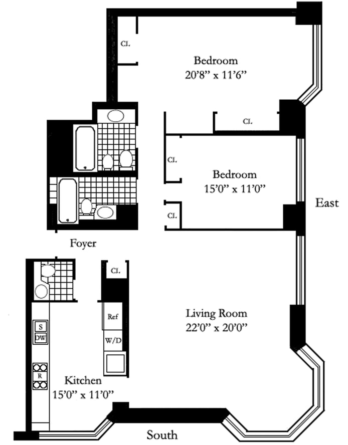 200 East 65th Street 35E, Upper East Side, NYC, $8,650, Web #: 18265232
