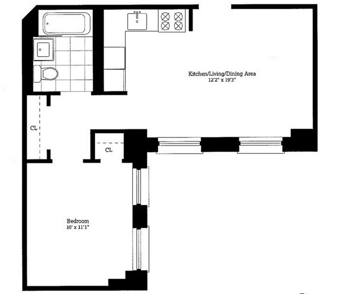 120 Greenwich Street 3J, Lower Manhattan, NYC, $2,700, Web #: 18272464