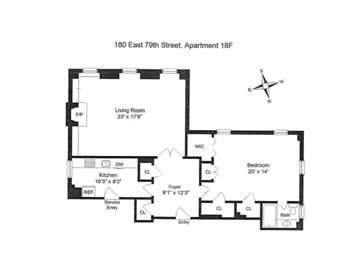 180 East 79th Street 18F, Upper East Side, NYC, $1,495,000, Web #: 18289430