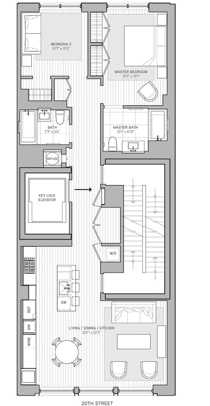 21 West 20th Street 3, Flatiron, NYC, $2,650,000, Web #: 18301146