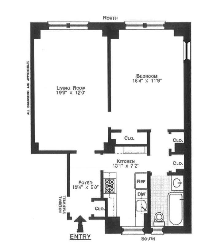 328 West 86th Street 11B, Upper West Side, NYC, $710,000, Web #: 18302536