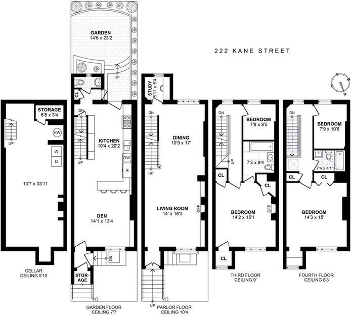 222 Kane Street, Brooklyn, New York, $3,300,000, Web #: 18326011