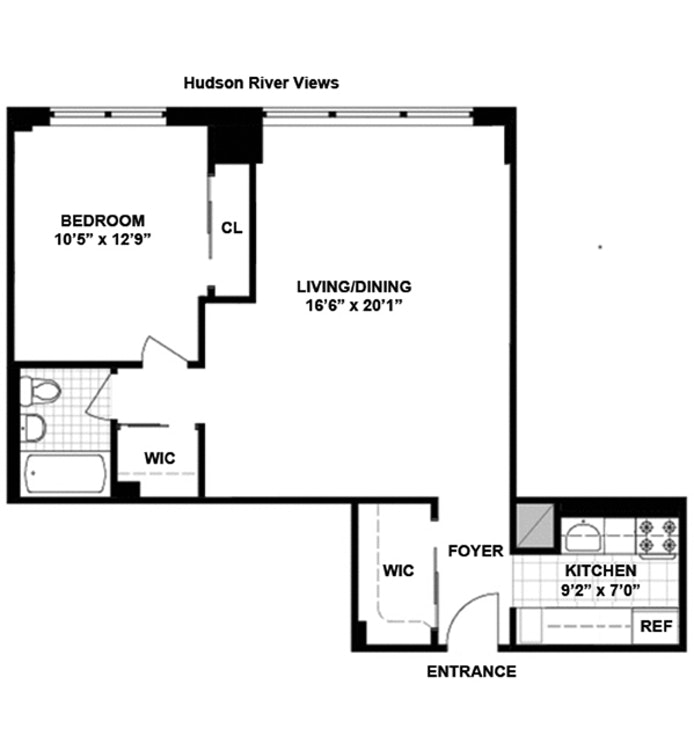 165 West End Avenue 19A, Upper West Side, NYC, $725,000, Web #: 18334430