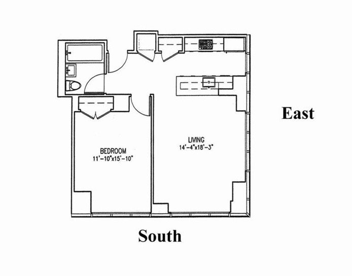 350 West 42nd Street 46E, Midtown West, NYC, $4,100, Web #: 18337393