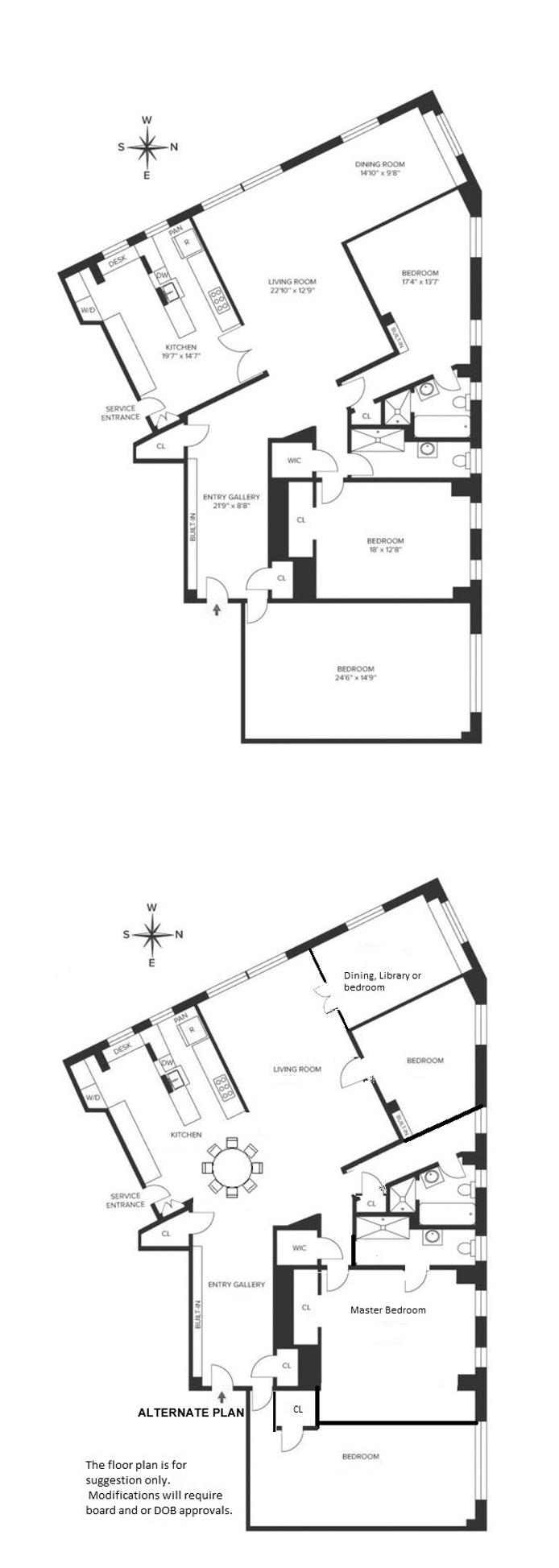 118 Riverside Dr 4B, Upper West Side, NYC, $3,200,000, Web #: 18339209