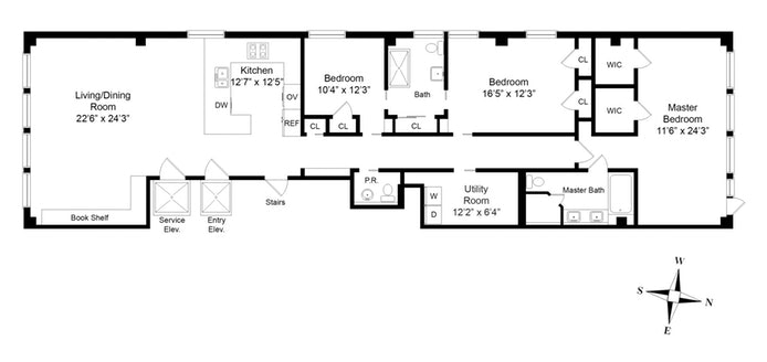 55 East 11th Street 3, East Village, NYC, $3,850,000, Web #: 18358959