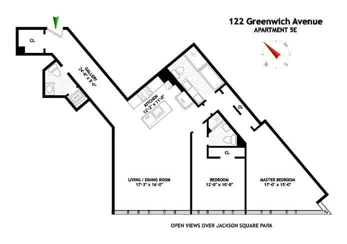 122 Greenwich Avenue 5E, Greenwich Village/Chelsea, NYC, $3,400,000, Web #: 18358963