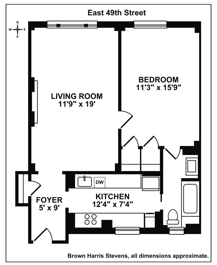 146 East 49th Street 2A, Midtown East, NYC, $640,000, Web #: 18359210