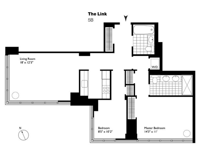 310 West 52nd Street 5B, Midtown West, NYC, $1,599,000, Web #: 18366243