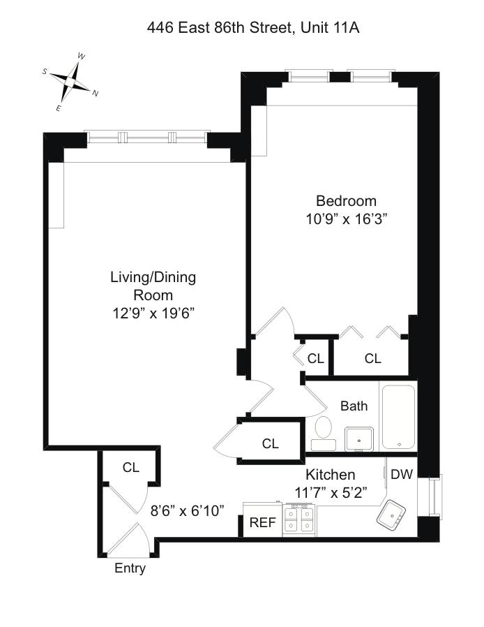 446 East 86th Street 11A, Upper East Side, NYC, $469,999, Web #: 18366762