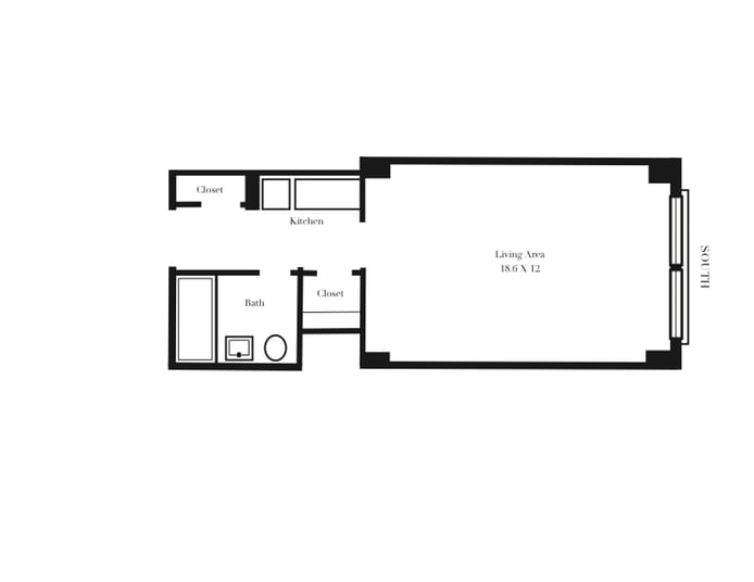433 West 34th Street, Chelsea, NYC, $410,000, Web #: 18380330