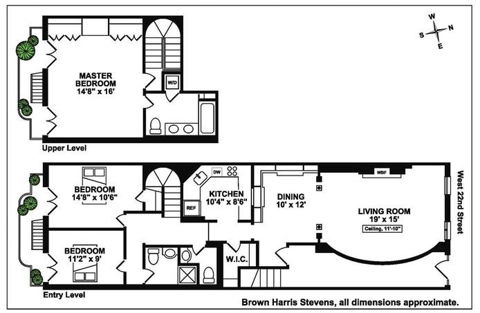 346 West 22nd Street 2, Greenwich Village/Chelsea, NYC, $2,950,000, Web #: 18380611