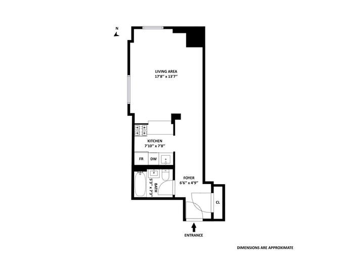 88 Greenwich Street 1108, Financial District, NYC, $699,000, Web #: 18381578