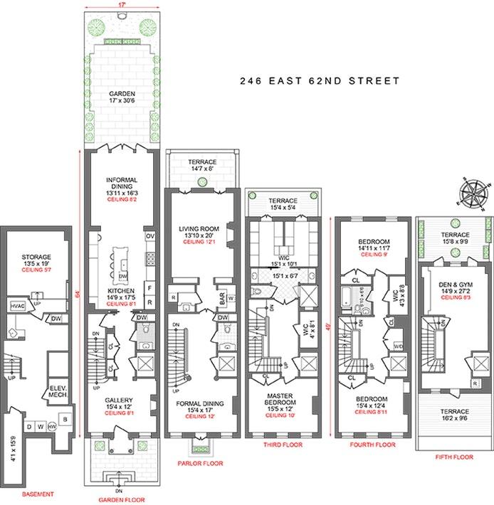 246 East 62nd Street, Upper East Side, NYC, $7,750,000, Web #: 18391578