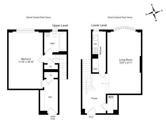 25 Central Park West 14P, Upper West Side, NYC, $6,900, Web #: 18403444