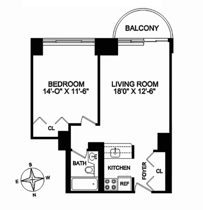 45 East 25th Street 11C, Flatiron/Gramercy Park, NYC, $3,950, Web #: 18405750