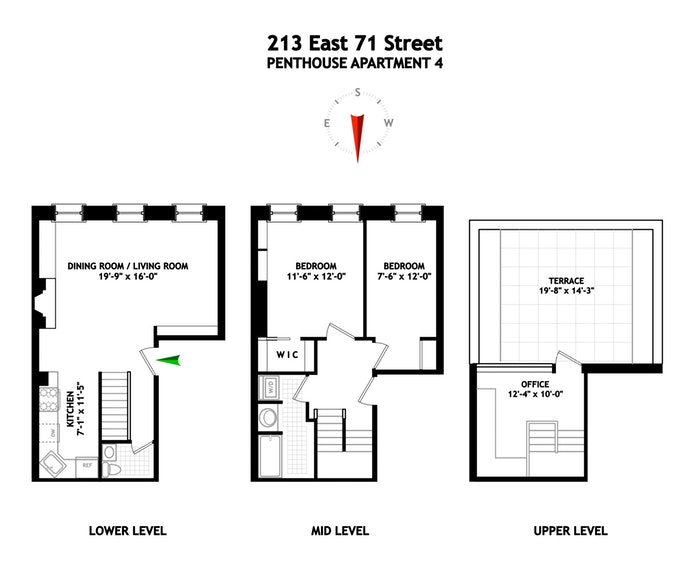 213 East 71st Street 4, Upper East Side, NYC, $1,600,000, Web #: 18405921