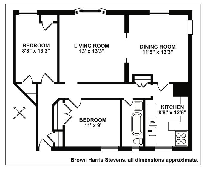 605 West 111th Street 43, Upper West Side, NYC, $825,000, Web #: 18412118