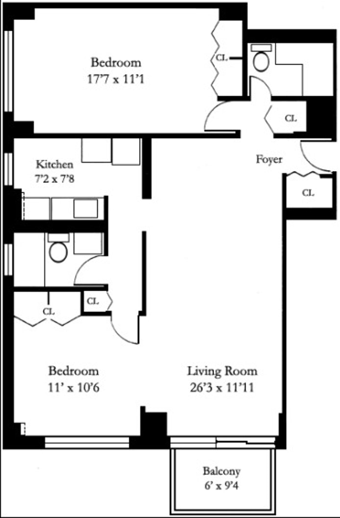 301 East 79th Street 20B, Upper East Side, NYC, $1,499,000, Web #: 18433249