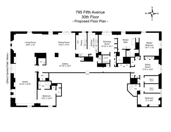 795 Fifth Avenue 30, Upper East Side, NYC, $37,000,000, Web #: 18438744