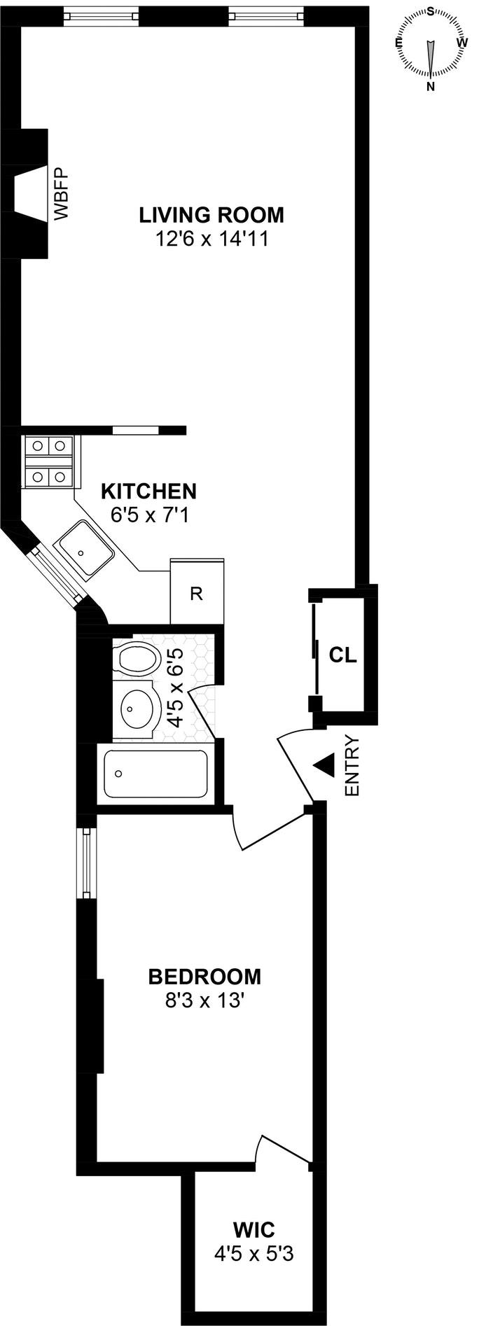 41 Jane Street 2A, West Village, NYC, $792,000, Web #: 18442474