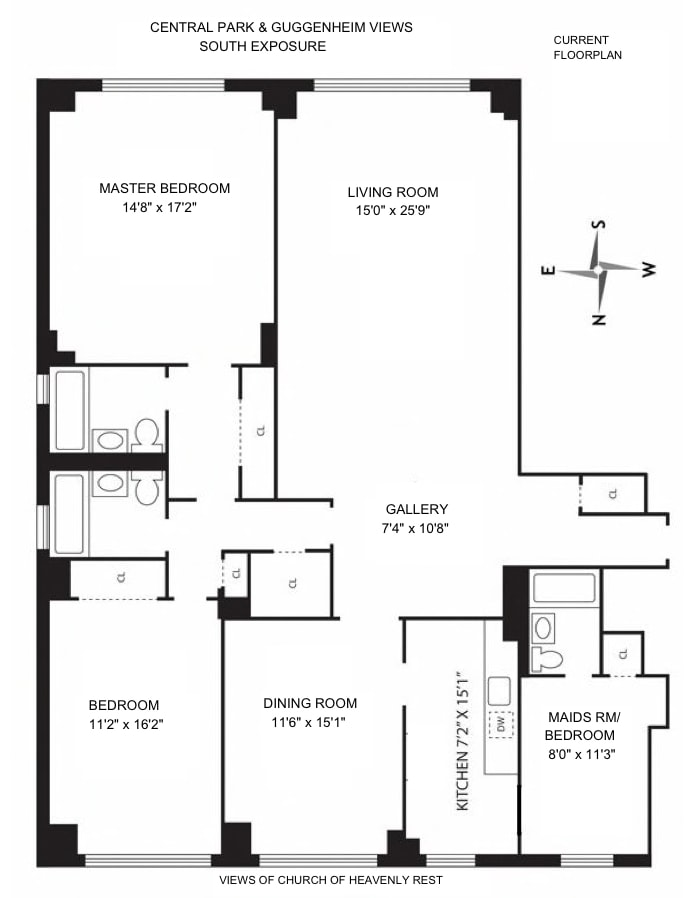 1080 Fifth Avenue 10A, Upper East Side, NYC, $2,500,000, Web #: 18443421