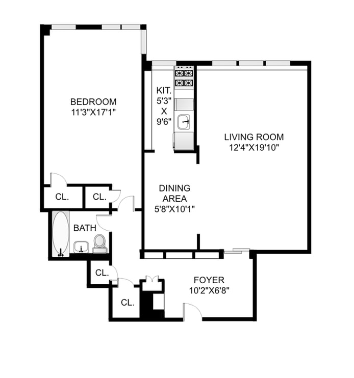 320 West 76th Street 10D, Upper West Side, NYC, $950,000, Web #: 18460987