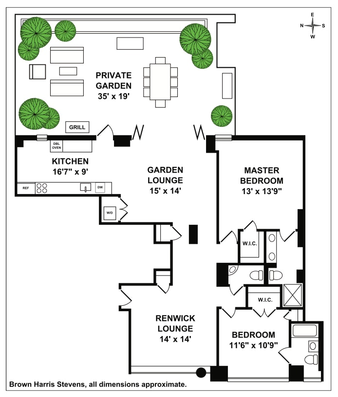 22 Renwick Street Garden, Soho, NYC, $2,595,000, Web #: 18462577