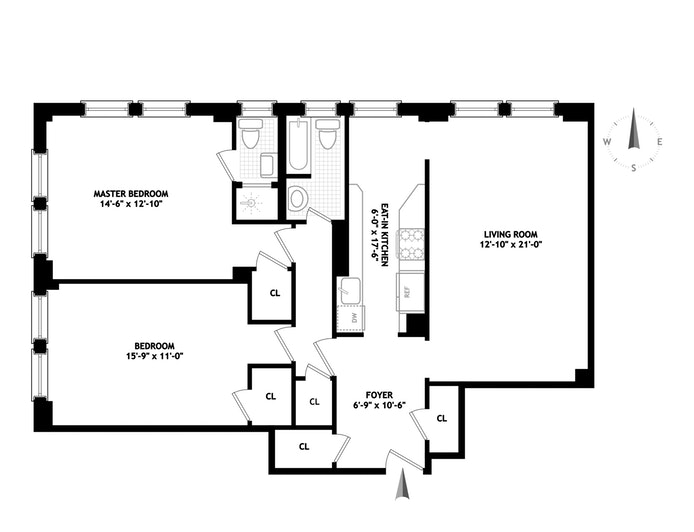 200 West 108th Street 16A, Upper West Side, NYC, $1,295,000, Web #: 18468128