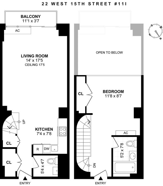 22 West 15th Street 11I, Greenwich Village/Chelsea, NYC, $1,500,000, Web #: 18509248