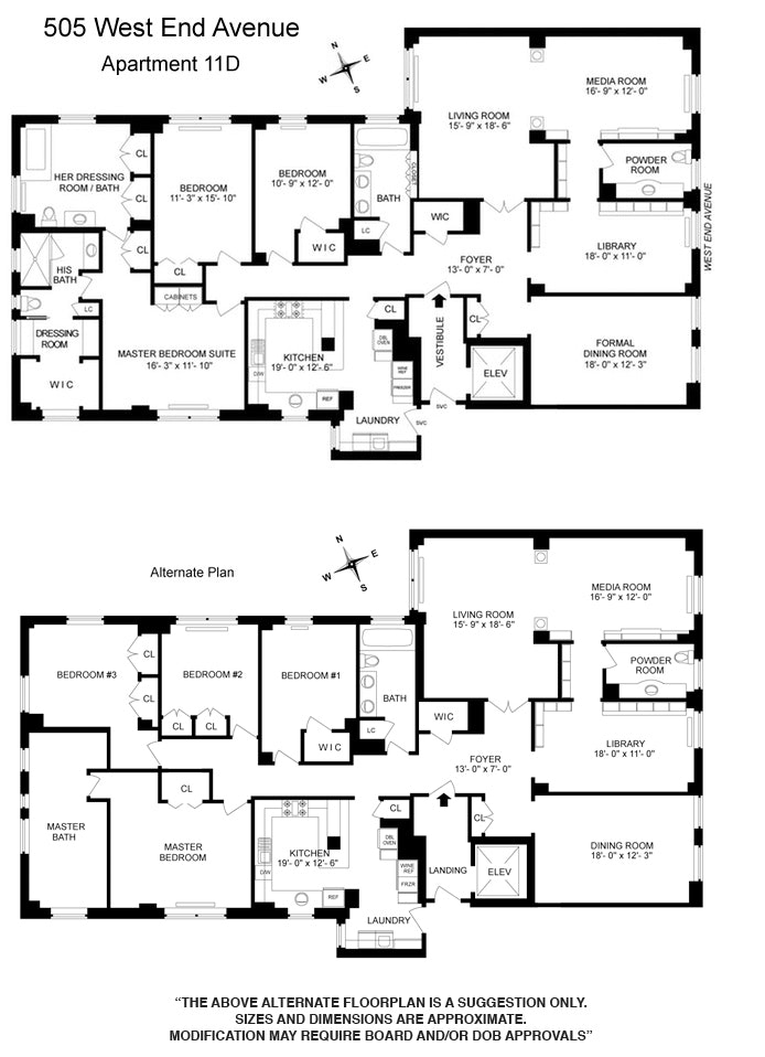 505 West End Avenue 11D, Upper West Side, NYC, $5,250,000, Web #: 18518546
