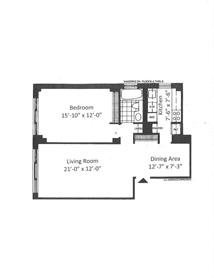 343 East 74th Street 8G, Upper East Side, NYC, $630,000, Web #: 18526668