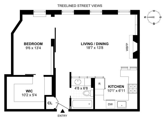 822 Greenwich Street 2B, West Village, NYC, $1,275,000, Web #: 18527472