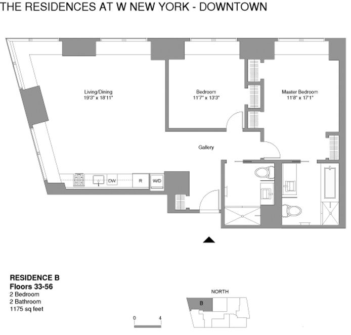 123 Washington Street 43B, Financial District, NYC, $2,345,000, Web #: 18527830