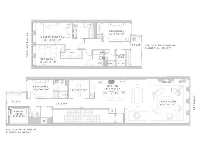 6 Cortlandt Alley 5, Tribeca, NYC, $5,450,000, Web #: 18547211