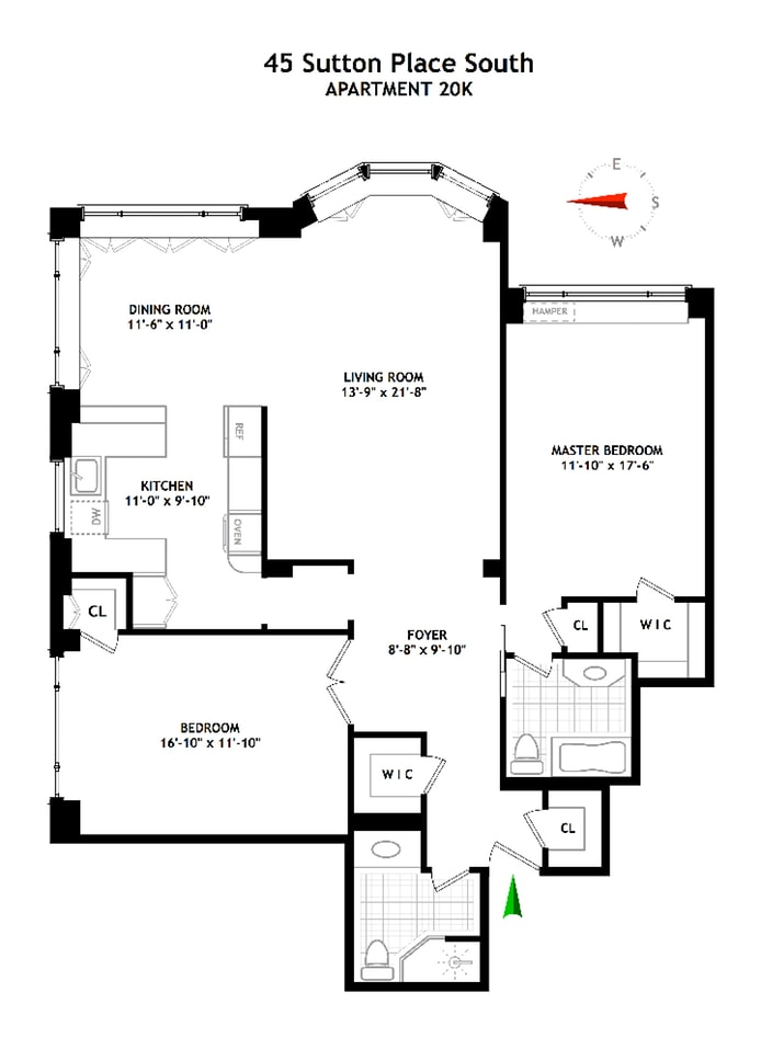45 Sutton Place South 20K, Midtown East, NYC, $1,337,745, Web #: 18560167