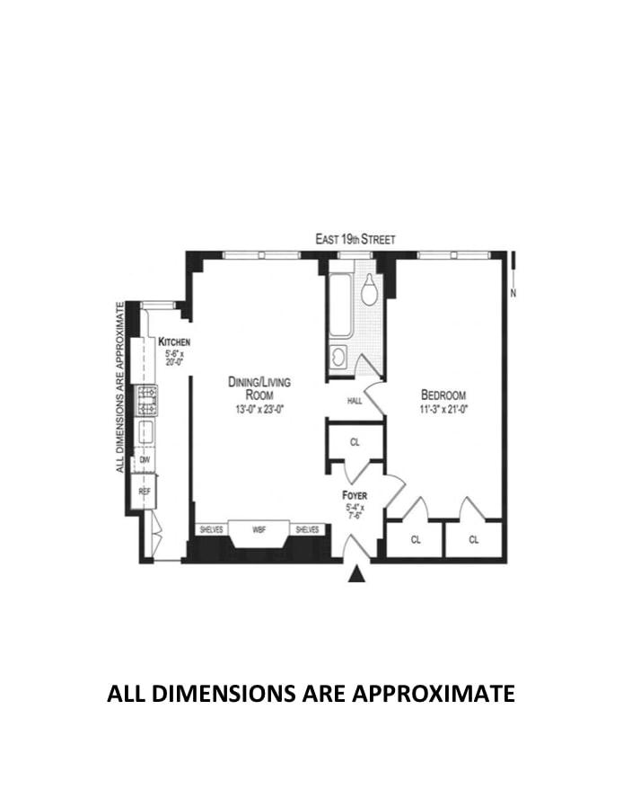 242 East 19th Street 10D, East Village, NYC, $930,000, Web #: 18561205