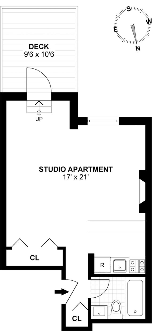 18 West 95th Street 3E, Upper West Side, NYC, $2,400, Web #: 18563983