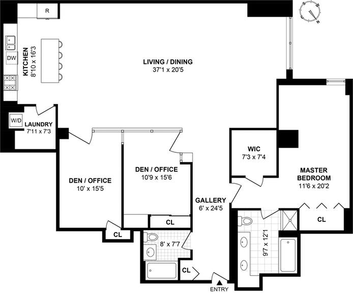 252 Seventh Avenue 12A, Midtown South, NYC, $10,000, Web #: 18571720